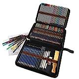 Buntstifte Bleistift Set, 72 Stück Zeichen Art Kit mit Aquarell buntstifte, Farbstifte, Zeichenstift Skizzierstifte Graphitstift Kohlestifte für Kinder Erwachsene Künstler