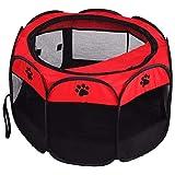 DC Wesley. Haustier Accessoriespet Katze Hund Portable Faltbare Käfig Übung & Spiel Zelt Mesh Cover Indoor/Outdoor Zäune (Size : S)