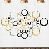 72Pcs Spiegel Wandaufkleber Rund Wandsticker Selbstklebend Wandtatoo 3D Spiegel Wandtatto für Schlafzimmer, Wohnzimmer, Haus Dek