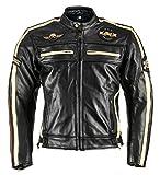 XLS Motorradjacke Classic One für Herren schwarz Retro Bikerjacke herausnehmbares Thermofutter Größe M