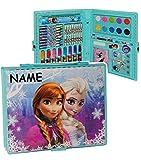alles-meine.de GmbH 52 TLG. Set __ Stifte-Koffer -  Disney die Eiskönigin - Frozen  - incl. Name - Malkoffer mit Stiften + Filzstifte + Buntstifte + Sticker + Wasser Farben + W..