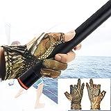 DECARETA 1 Paar Anglerhandschuhe Anti Slip Angelhandschuhe Atmungsaktiv Tarnhandschuhe Sommer Camouflage Handschuhe Zufällige Farbe Jagdhandschuhe für Angeln, Camping, Radfahren, Jagd