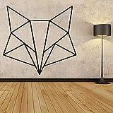 Wandtattoos Wandaufkleber Einfache Geometrie Design niedlichen Fuchs Aufkleber Kinderzimmer Kinderzimmer Kunst Schlafzimmer Vinyl Wanddekor Aufkleber 77x73
