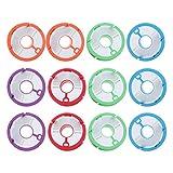 BESPORTBLE 12Pcs Angelschnur Lagerung Inhaber Angeln Führer Rigs Spool für Fly Angeln Tippet Halter Linie Veranstalter Silikon Zufällige Farb