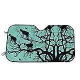 WH-CLA Ziegen-Argan-Baum Windschutzscheibe Schutz Blendschutz Sonnenschutz Visier Faltbare Auto Sonnenblende Einfache Lagerung Sonnenblende M