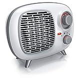 Brandson - Heizlüfter mit Zwei Leistungsstufen - Heizlüfter Badezimmer energiesparend leise - stufenlose Temperaturregelung - Keramik Heizelement - Thermosicherung - Heizung Heater - Retro Design