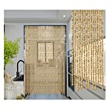 LSXIAO Wooden Bead Curtain Door Curtain, Completely Hand-Made Mounting Bracket Made of Wood for Room Divider Or Decorative Curtain (Size : 110x220cm 80 Strands)