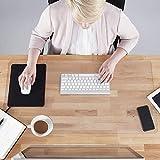 Rutschfeste PVC Transparente Schreibunterlage,Extra groß Mauspad Schreibmatte,Wasserdichtes Schreibtisch-Matte/Unterlage Tischschutzmatte für Büro/Studenten/Zuhause-120 * 60cm
