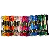36 Farben-Stickerei Fließt bunten Baumwollfaden Set Kreuz-Stich-Gewinde für Stickerei Craft