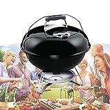 ZhiLianZhao Holzkohle BBQ Grillwagen, Grill Kugelgrill, Mit Ständer, Wärmeregelung, für Picknick Camping Backyard Cooking