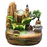 LOMJK Küche Haushalt Wohnen Zimmerbrunnen Steingarten Entspannung Innen Brunnen Wasserfall Feng Shui Desktop Wasser Beruhigende Klänge Tisch Ornamente Handwerk Heimtextilien Zubehör (Größe : Small)