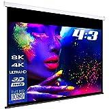 ESMART Professional MIROLO Rollo-Leinwand [Größenauswahl] 305 x 229 cm (150') 4:3   Heimkino Beamer Projektionsleinwand Rollo Leinwand LCD LED