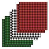 bulrusely Patchwork-Stoff, Baumwollstoff, quadratisch, Quiltstoff, 6 Stück, Bündel, Scrapbooking, Dekoration, DIY, handgefertigt, 47 x 47 cm, quadratisches Karomuster