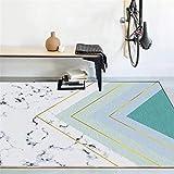 Kunsen Teppich auslegware Wohnzimmerteppich weiß blau verblasst Nicht ohne Verformung büro Teppich Carpets 60X90CM 1ft 11.6' X2ft 11.4'