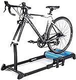 WLGQ Fahrrad Turbo Trainer, Bike Roller Trainer - Bike Roller - Faltbarer Indoor Cycling Verstellbarer Fahrrad Roller Trainer mit Widerstand für MTB Rennradübungen