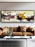 Moderne Weinlese-Blumen-abstrakte Malerei auf Leinwandplakaten und -drucken Retro-Wandkunst-Bild für Wohnzimmer-Hauptdekor-40x120cm kein Rahmen