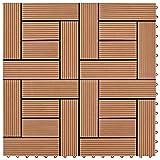 WUTINGKONG Material: WPC Fußböden Teppichböden Braune Terrassenfliesen 11 STK. 30 x 30 cm WPC 1 qm