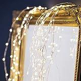 HSD Stern Typ Dusche Garten Kunst Licht Dekoration Gartenarbeit Rasenlampe im Freien (Ohne Halterung),Gartenlichter Deko, Garten Gießkanne Lichter, LED Wasserfall Form Twinkle Lichterk