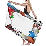 Badetuch hochwertige Strandtücher,Sportausrüstung vom Basketball Boxen Golf Bowling Tennis Badminton Fußball Fußball Eishockey,Duschtücher sehr saugfähig Strandtuch 80x130CM