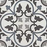 Orientalische Vintage Retro Bunte Keramik-fliesen Adel 20x20 cm 1 qm Feinsteinzeug in Zementoptik frostsicher | Badfliesen | FL7279