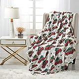 softan Flanelldecken für ganzes Jahr, weiche Fleecedecke für Bett und Sofa (150 x 200cm, Auto und Baum)