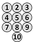 Magnetische Zahlen rund von 1-10 durchmesser 5 cm für Magnettafeln, Kühlschränke, Plantafeln und Whiteboards