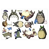 LCFF Wandtattoo Totoro 3D wandaufkleber Wand wandbilder Decals Mein Neigung Totoro dekorative Vinyl tapete abnehmbare Kinder Zimmer Wand dekor (Color : C, Size : 60x90cm)