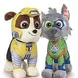 2er Set Plüsch Hund, Rubble und Rocky , stehend ca. 28 cm, Paw Patrol Stofftier