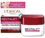 L'Oréal Paris Tagespflege ohne Parfum, Anti-Aging Feuchtigkeitspflege für das Gesicht, Für sensible Haut, Mit Probiotika, Revitalift Klassik, 50ml