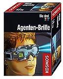 Kosmos 631352 Die drei ??? Agenten-Brille, mit integrierter Doppel-LED zur Beleuchtung im Dunkeln, Visier vorklappbar mit Such-Linse und Vergrößerungs-Linse, Detektiv-Spielzeug, Agenten-Ausrüstung für Kinder