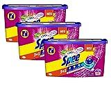 Spee Power Caps Color 3+1, Colorwaschmittel, 120 (3 x 40) Waschladungen, Reinheit, Strahlkraft und Frische für deine Buntwäsche zum schlauen Preis, 20-60°