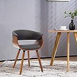 Mingone Armlehnen Retro Esszimmerstühle Stoff und Massivholz Beine Küchenstühle Büro Computer Stühle, G