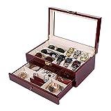 Suytan Uhr Box 2 Geschichte Holz Uhr Box Brille Box Sandelholz Farbe Schrank Organisatoren Geburtstagsgeschenk Schmuck Geschenkbox Uhrenetui,Wie Das Bild Zeigt