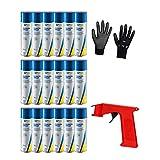 Iloda® Schutzhandschuhe + Sprüh-Pistolengriff (rot oder schwarz) + 18x 300ml cartechnic Silikonspray Silicone Spray