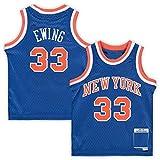 FTING Basketball-Trikot für Kinder, Motiv: Patrick New York, Nr. 33, Blau, Knicks Ewing