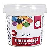 Rayher 1460100 Fugenmasse für Mosaikarbeiten, reinweiß, 1A Qualität, Becher 500 g, Pulver zum Anrühren, zum Verfugen von Mosaiksteinen, für den Innen- und Außenbereich, Mosaik Fugenfüller