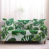 Gpink 3D Digitaldruck Blatt Wohnzimmer Sofabezug All-Inclusive Stretch Sofabezug Stoff Sofakissen Waschbar rutschfest Und Staubdicht