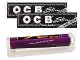 yaoviz® Set 3tlg.: ZEN konische Drehmaschine 110mm - 2x OCB premium black slim KS Slim Papers inkl. Tips