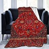N \ A Antike Perserteppich, sehr weich, leicht, Flanell, Überwurf, Decke, 50 x 40