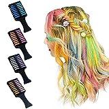 Haarkreidekämme, 8 Farben Temporäre Haarfarbe Kreidekamm, Doppelköpfige Temporäre Helle Haarfarbe Farbstoff für DIY-Frisur, Ungiftige, Faszinierbare Haarfarbkämme für Kinder Cosplay Party
