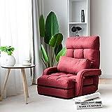 YJYDD Schlafsofa Klappsofa Schlafsessel Sofa Lazy Sofabett für Zuhause & Büro Farbwahl (Color : Rot)
