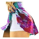 Damen Tennis Rock Leggings mit Taschen,Blickdicht Lange Sporthose Fashion Yogahose Sexy Extra-elastische Sportbekleidung Stretch Kleidung Bodysuit für Sport,Laufen,Yoga, Fitness Hose Sk
