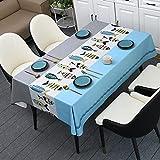 Reine Farbe Blumendruck Rechteckige Tischdecke Hochzeitsdekoration Restaurant Couchtisch Tischdecke Abdeckung 140x180cm 05