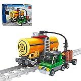 ITop Technik Güterzug Set, 199 Teile Schienenzug Bausteine Bausatz mit Track, Zug Kompatibel mit Lego Technik