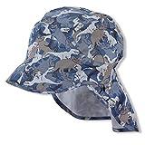 Sterntaler Baby-Jungen M 1622120 Schirmmütze mit Nackenschutz, Blau, 55