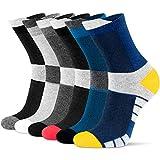 Newdora Socken Herren, 6 Paar Sneaker Socken Unisex Atmungsaktiv Baumwoll Socken für Sport Freizeit Lauf Outdoor Business Arbeits, 37-42