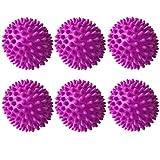 Gurxi Trocknerbälle Trocknerbälle für Wäschetrockner Waschball Waschkugel Tennisbälle Trockner Bälle für Trockner Trocknerkugeln für Wäschetrockner Trocknerbälle Daunen für Flauschigere Wäsche (Lila)
