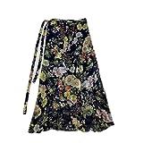 N\P Übergröße Frauen Sommer Hohe Taille Blume Gedruckt Maxi Rock Böhmen Strand, Farbe-4, 48