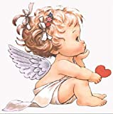 QNIECV 5D Angel Baby Diamond Gemälde Angel Diamond Stickerei Full Diamond Landschaftsmalerei Kreuzstich Kit Home Decoration Gemälde 30X40cm F
