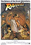 Laur UK Indiana Jones Raiders of The Lost Ark Harrison Ford-Filmposter, Kunstdruck, Satin-Fotopapier, 60 x 91,5 cm